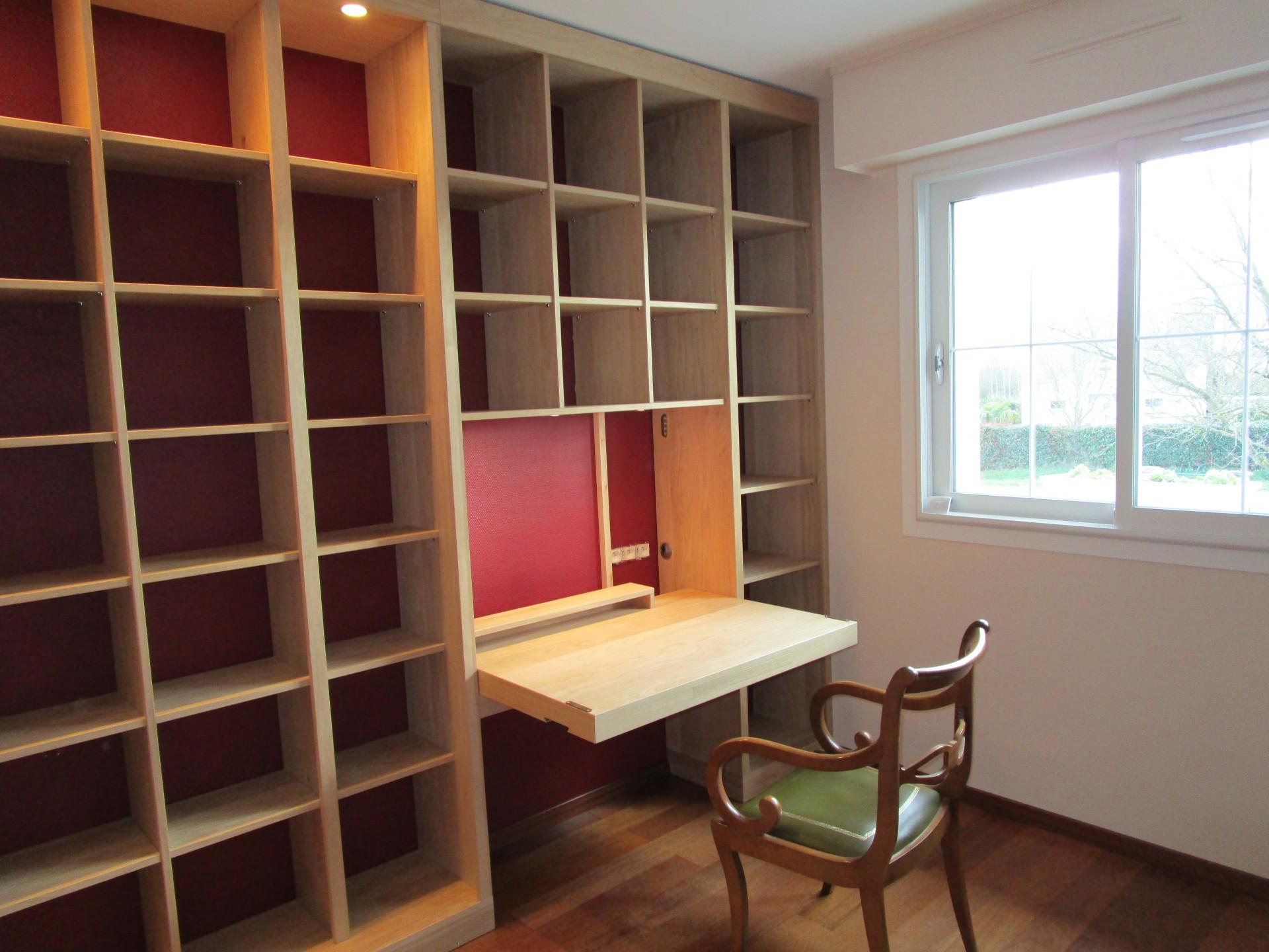 biblioth que en ch ne sur mesure pr s d angers 49. Black Bedroom Furniture Sets. Home Design Ideas