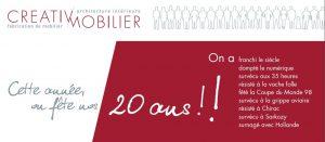 Creativ Mobilier fête ses 20 ans