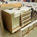 Le mobilier est mis en caisse