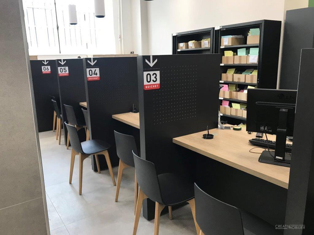 bureaux d accueil la pr fecture de police de paris creativ mobilier. Black Bedroom Furniture Sets. Home Design Ideas