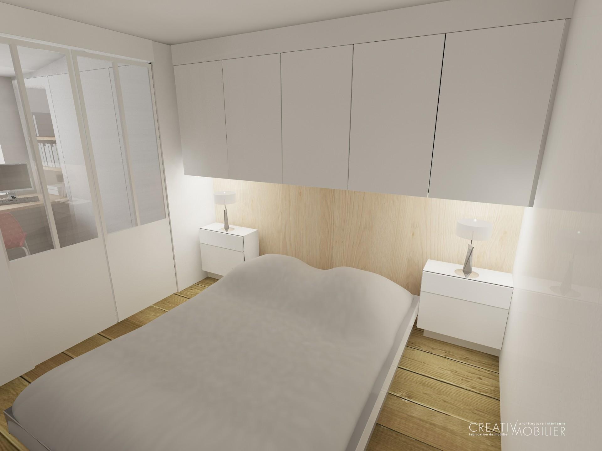 une chambre am nag e dressing bureau biblioth que. Black Bedroom Furniture Sets. Home Design Ideas