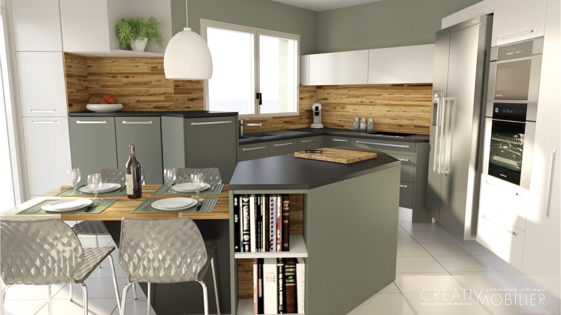 cr ations de cuisines sur mesure creativ mobilier. Black Bedroom Furniture Sets. Home Design Ideas
