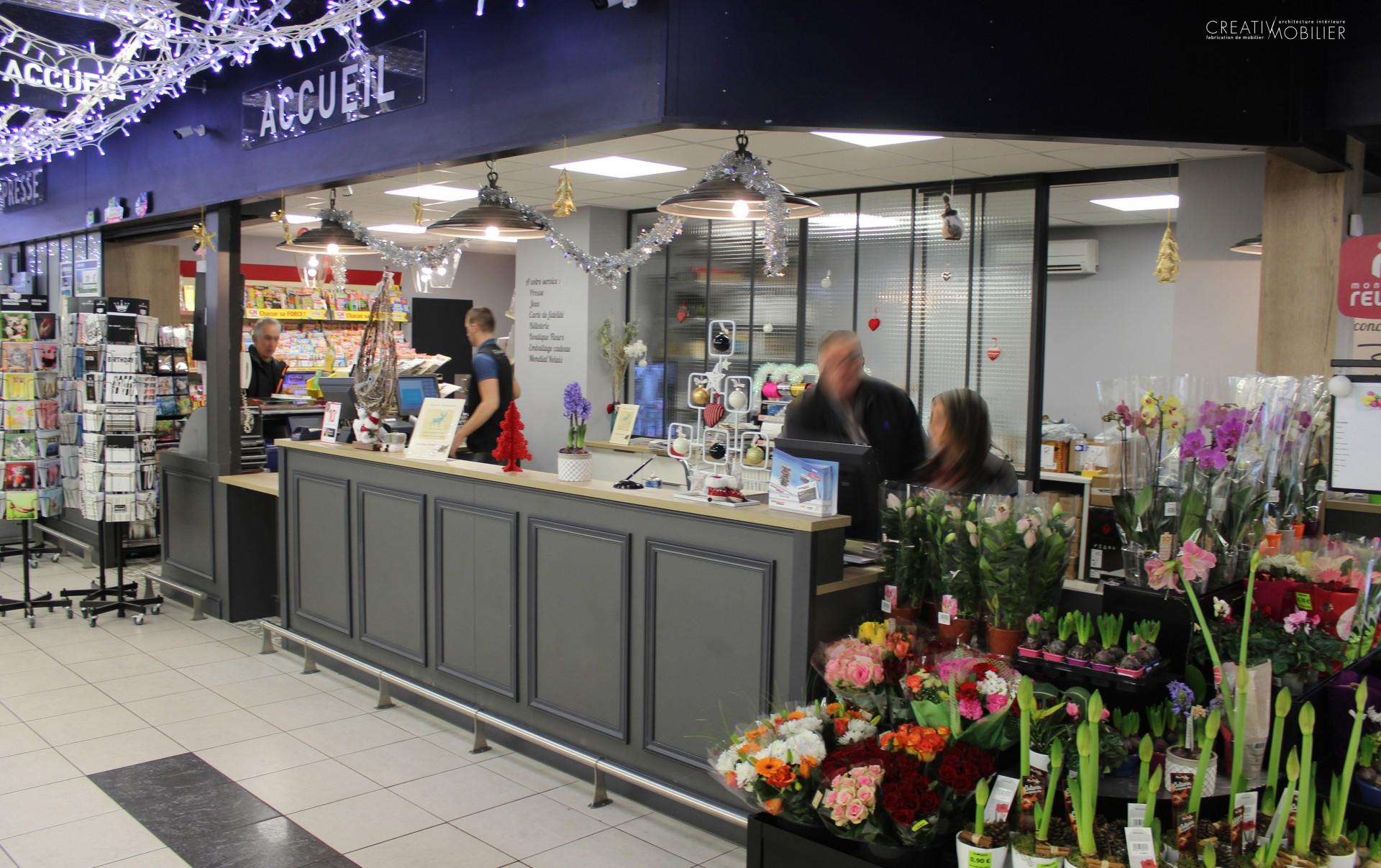 Accueil supermarché