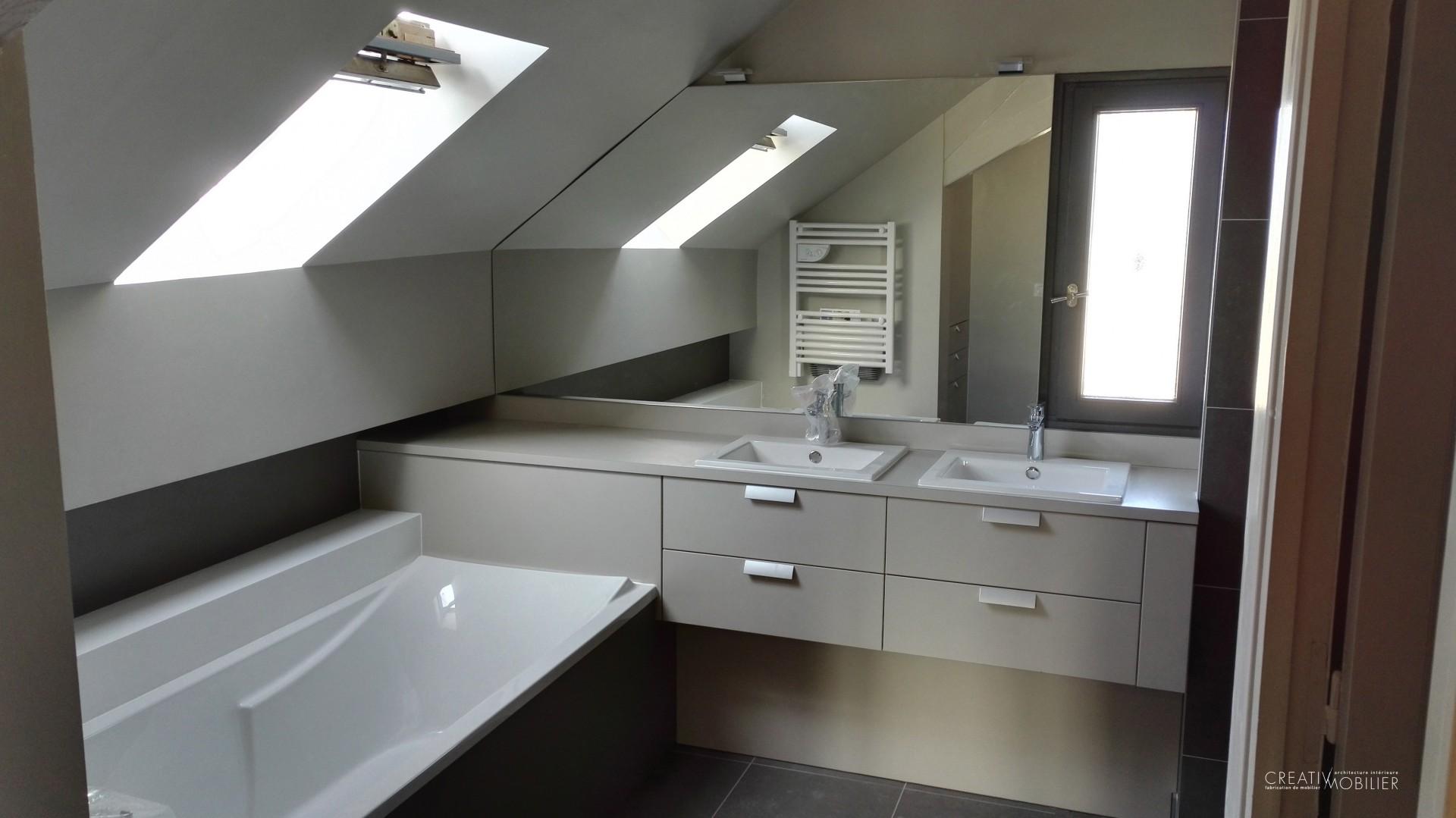 Photo Salle De Bain Sous Comble salle de bain sur mesure à angers, maine-et-loire (49)