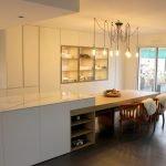 cuisine sur-mesure angers paris ilot central céramique marbre et chêne massif