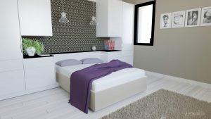 Aménagement d'une chambre : dressing, tête de lit, coiffeuse