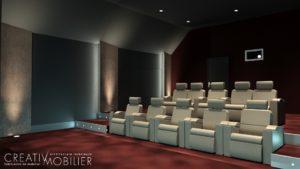 CREATIV MOBILIER réalise l\'aménagement d\'une salle Home Cinéma