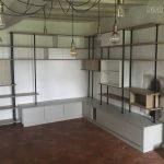 meuble tv bibliothèque bois et métal sur-mesure