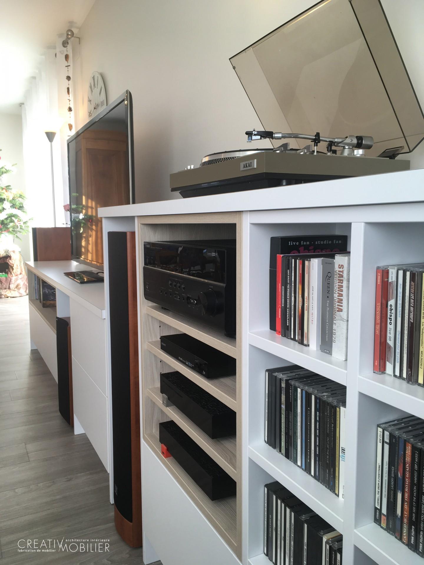 Am nagement d un meuble tv biblioth que creativ mobilier - Decirage d un meuble ...
